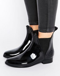 Asos Game Chelsea Wellies Black Shiny