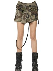 Faith Connexion Camouflage Cotton Canvas Mini Skirt