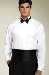 David Donahue Cummerbund And Bow Tie Black