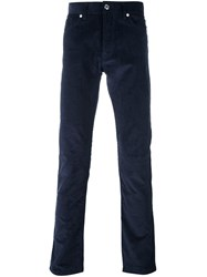 Editions M.R Ribbed Straight Trousers Blue