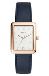 Fossil Women's Atwater Leather Strap Watch 28Mm