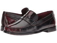 Ted Baker Rommeo Dark Red Burnished Leather Men's Slip On Dress Shoes Brown