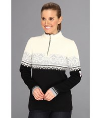 Dale Of Norway St. Moritz Feminine Black Metal Off White Women's Sweater