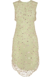 Alexander Lewis Giovanna Embellished Crocheted Lace Dress