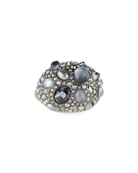 Alexis Bittar Stone Cluster Pave Cocktail Ring Black