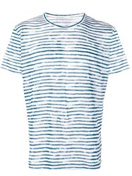 Majestic Filatures Striped T Shirt White