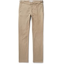 Orlebar Brown Campbell Slim Fit Stretch Cotton Twill Trousers Beige