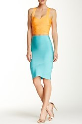 Wow Couture Bandage Pencil Skirt Blue