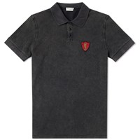 Saint Laurent Ysl Shield Wash Polo Grey