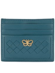 Bottega Veneta Logo Plaque Card Case Blue