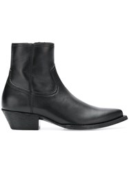 Saint Laurent Pointed Toe Ankle Boots Black