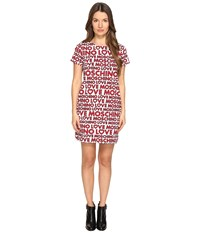 Love Moschino T Shirt Dress White Multi Women's Dress