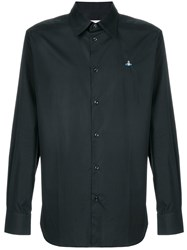 Vivienne Westwood Embroidered Orb Shirt Cotton Black