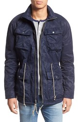 Lucky Brand Men's 'Capital' Coated Jacket Savile Row Blue