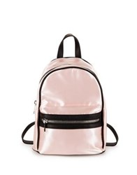Design Lab Lord And Taylor Classic Satin Backpack Platinum