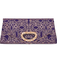 Dries Van Noten Large Fold Jacquard Bag Purple Jac