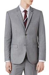 Topman Men's Skinny Fit Suit Jacket Light Grey