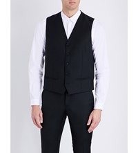 The Kooples Satin Back Wool Waistcoat Black