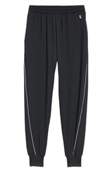 Good American Plus Size Piped Jogger Pants Black001