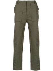 Egrey Straight Trousers Green