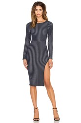 Donna Mizani Boat Neck Midi Dress Navy