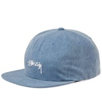 Stussy Washed Oxford Canvas Cap Blue