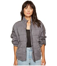Free People Dolman Quilted Jacket Carbon Women's Coat Gray