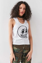 Cheap Monday Skull Muscle Tank Top White
