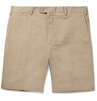 Polo Ralph Lauren Slim Fit Linen Shorts Sand