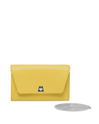 Anouck Clutch Bag W Chain Chartreuse Akris