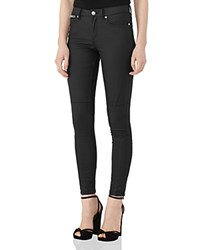 Reiss Alexis Coated Skinny Jeans In Black