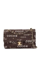 Wgaca What Goes Around Comes Around Chanel Twill Coco 2.55 Shoulder Bag Previously Owned Black White