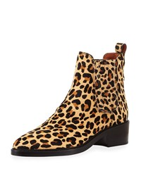 Coach Bowery Fur Chelsea Boots Leopard