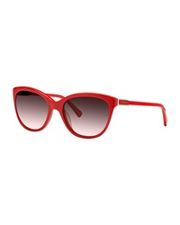 Nina Ricci Cat Eye Acetate Sunglasses Red