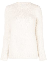 Gabriela Hearst Round Neck Jumper White