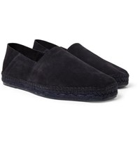 Tom Ford Barnes Suede Epadrilles Midnight Blue