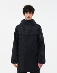 Goldwin Hooded Gore Tex Coat In Black