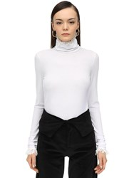 Acheval Pampa Stretch Jersey Top W Lace White