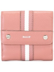 Bally Striped Coin Purse Pink And Purple