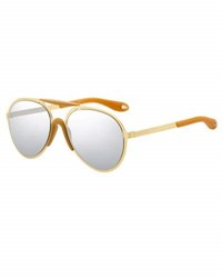 Givenchy Mirrored Aviator Sunglasses Yellow