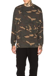 Kanye West X Adidas Originals Long Sleeve Tee In Brown Green Abstract