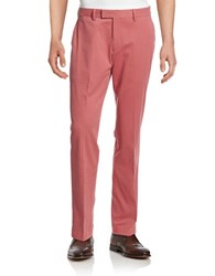 Black Brown Cotton Chinos Antica Red