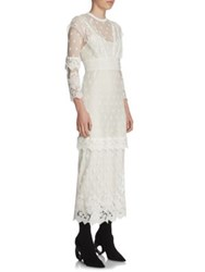 Burberry Lace Overlay Dress White