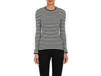 Philosophy Di Lorenzo Serafini Women's Striped Cotton Long Sleeve Shirt Black