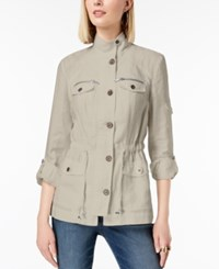 Inc International Concepts I.N.C. Linen Utility Jacket Created For Macy's Frappe