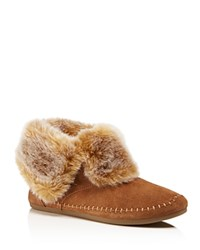 Toms Faux Fur Zahara Booties Chestnut