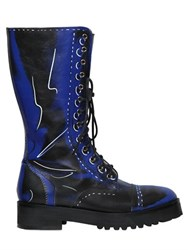 Moschino 40Mm Shadow Leather Boots