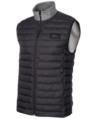 Greg Norman For Tasso Elba Quilted Zippered Vest Only At Macy's Heather Gray