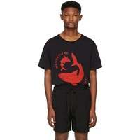 Gucci Black 'Magnetismo Animale' Shark T Shirt