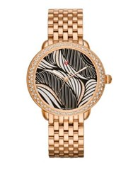 Michele Serein 16 Willow Diamond And 18K Rose Gold Bracelet Watch